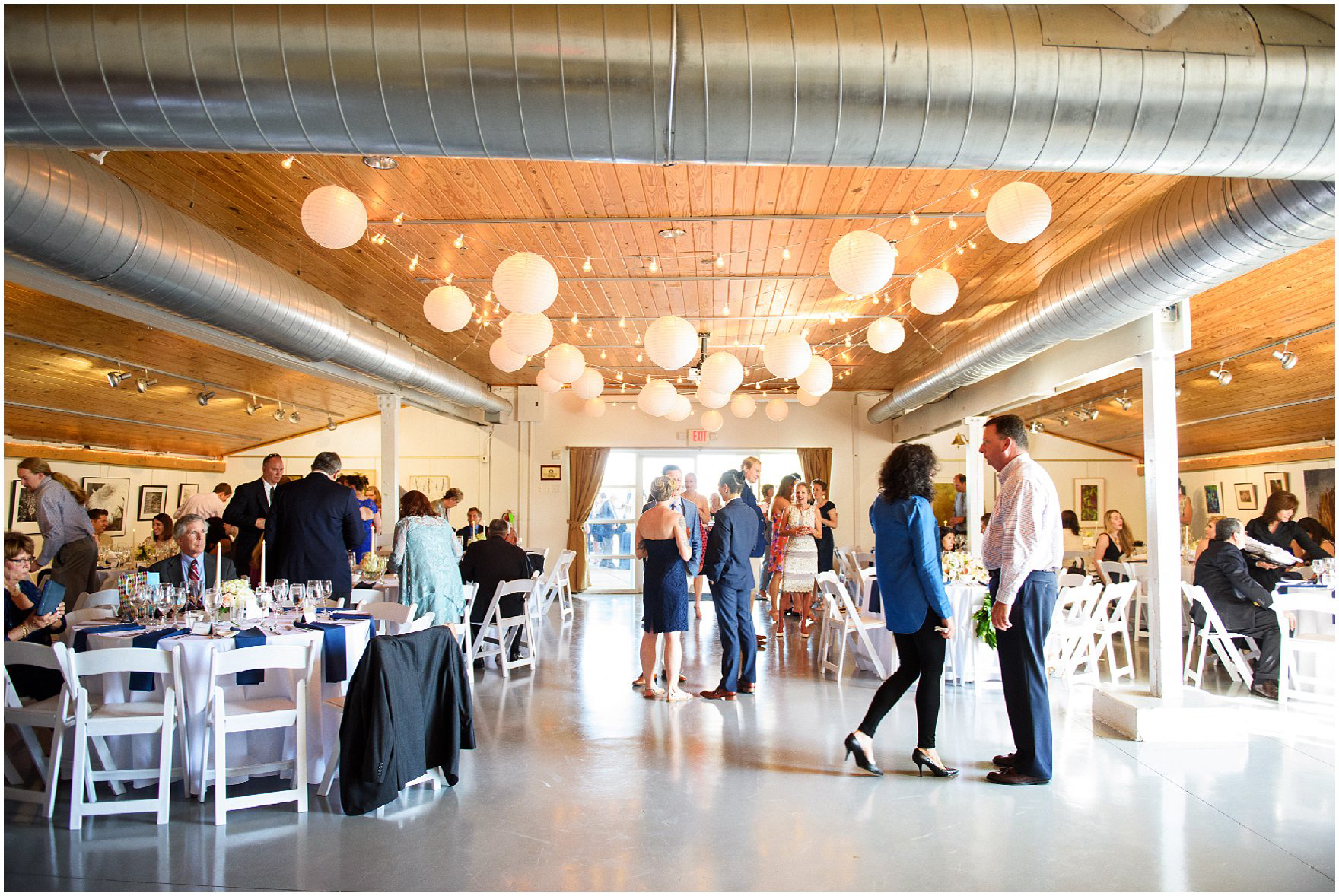 Guests At Reception For Nautical Waterfront Wedding Invitation Maritime Museum