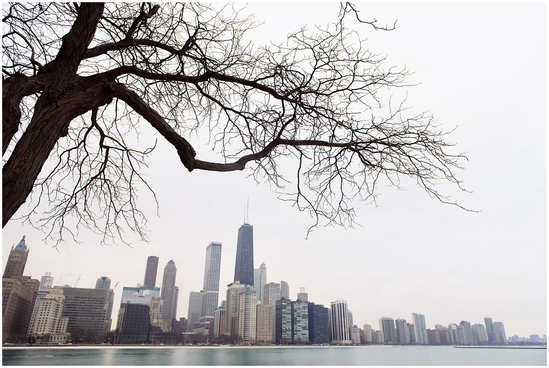 A view of Chicago prior to a Chicago skyline proposal.