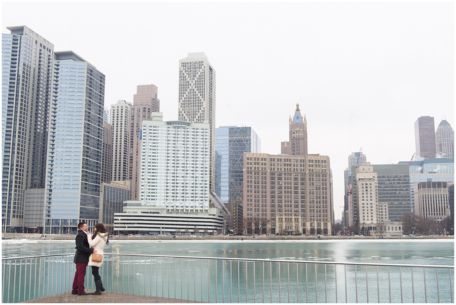 A bride-to-be is in shock after a Chicago skyline proposal.