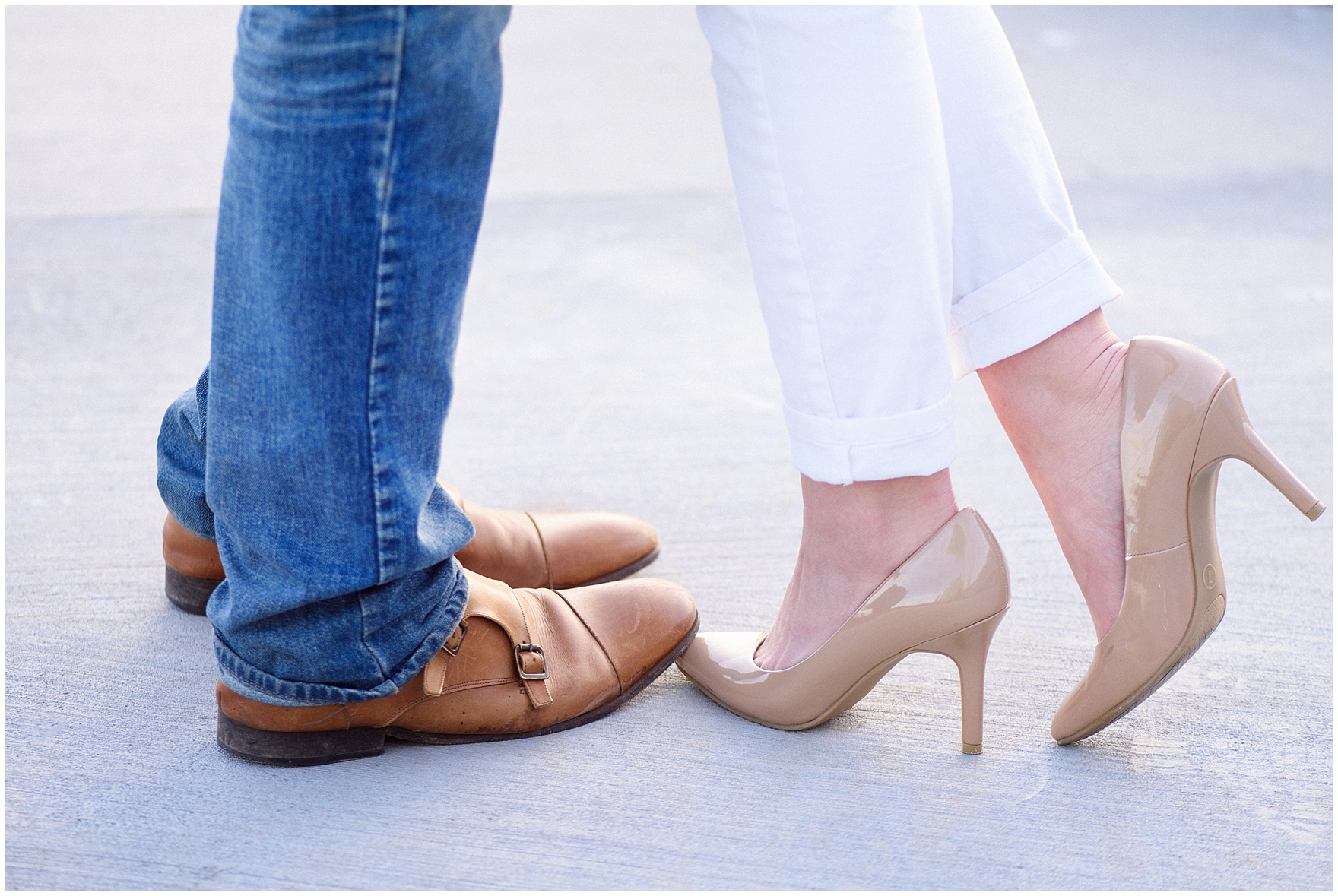 Cute shoes during a Chicago Navy Pier engagement photography session.