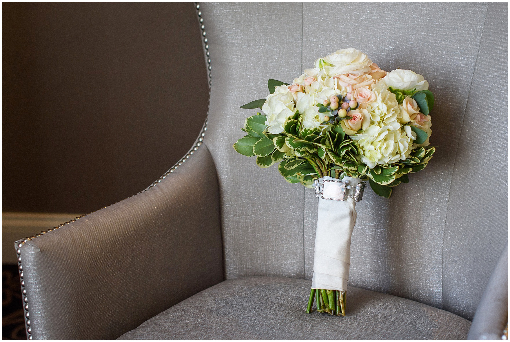 A bridal bouquet by Christopher Mark Fine Flowers for an Itasca Country Club Illinois wedding.