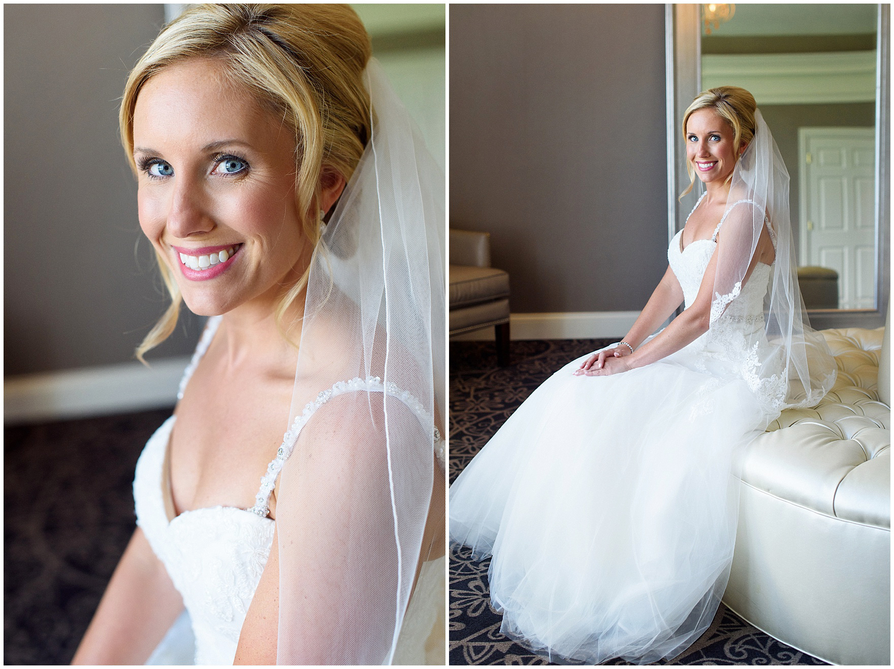 Bridal portraits before an Itasca Country Club Illinois wedding.