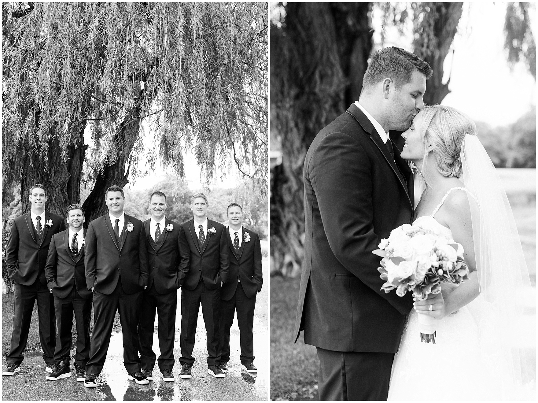 A bride and groom take photos at their Itasca Country Club Illinois wedding.