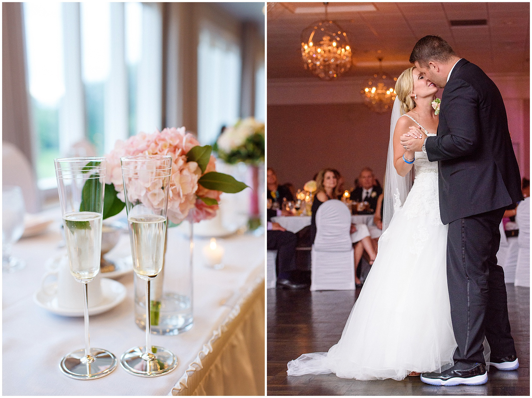 The bride and groom share their first dance at an Itasca Country Club Illinois wedding.