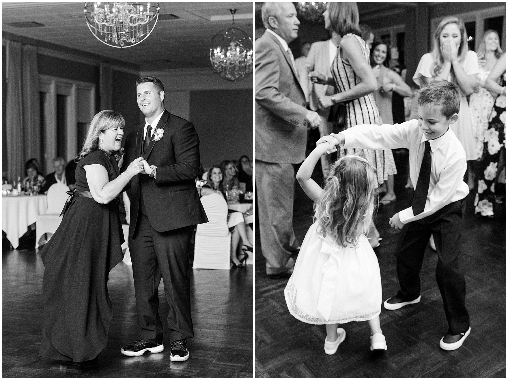 The groom and his mother dance at an Itasca Country Club Illinois wedding.