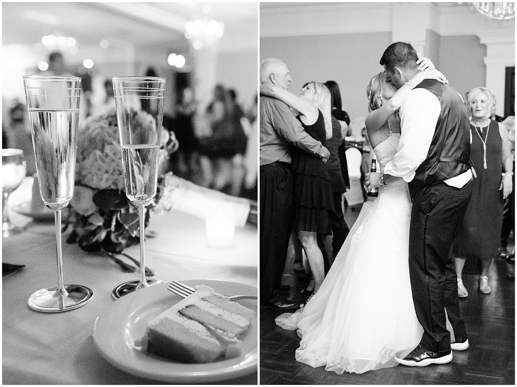 The bride and groom dance at an Itasca Country Club Illinois wedding.