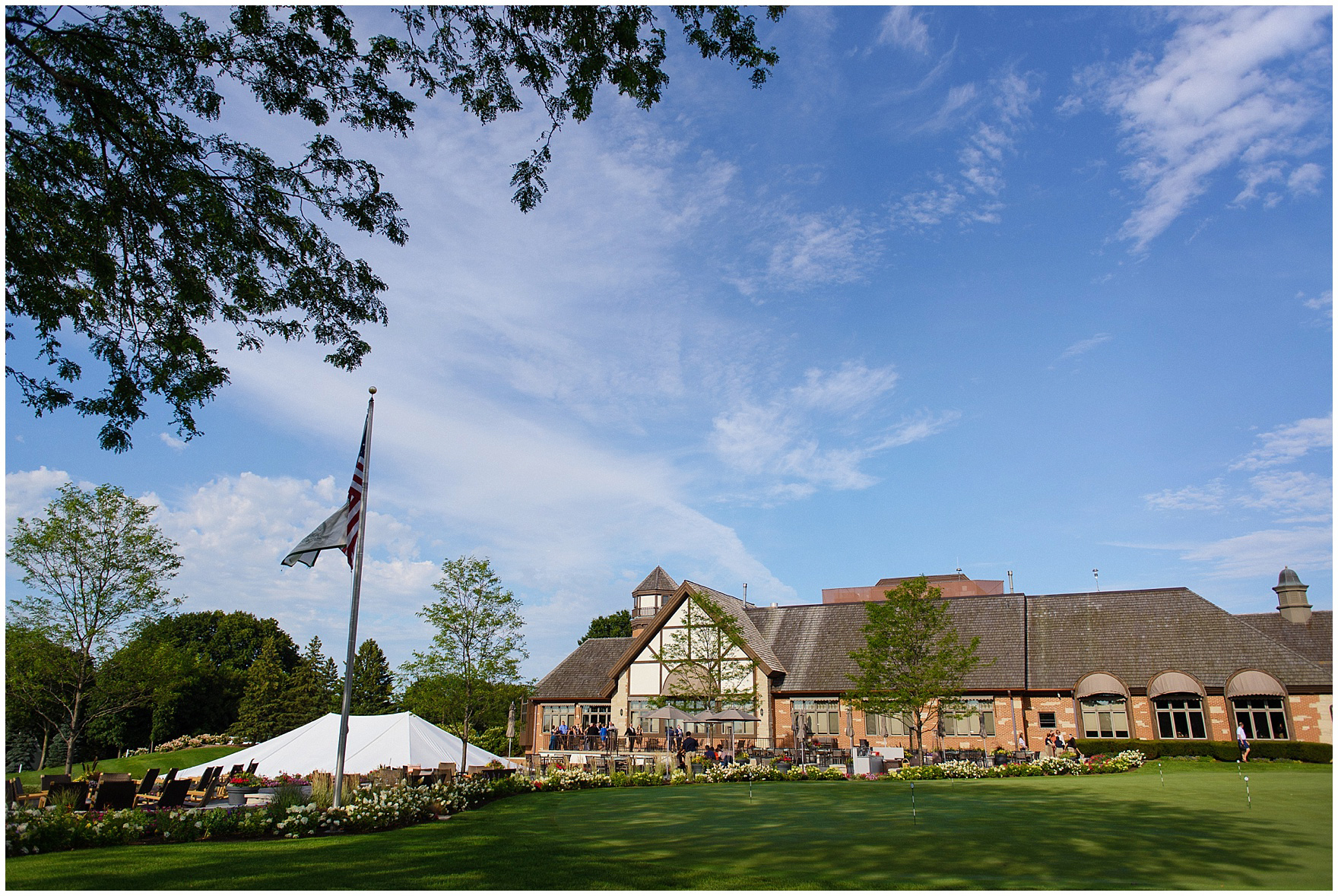 Exterior of the club during a Biltmore Country Club Barrington wedding.