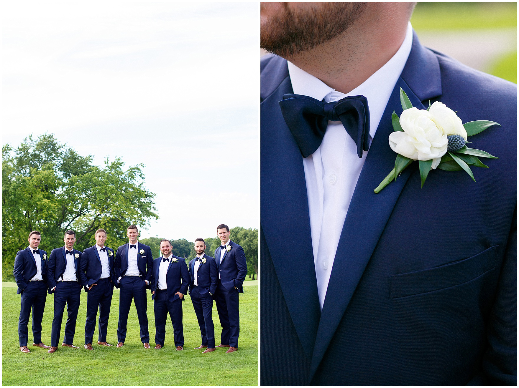 The groomsmen pose during a Biltmore Country Club Barrington wedding.