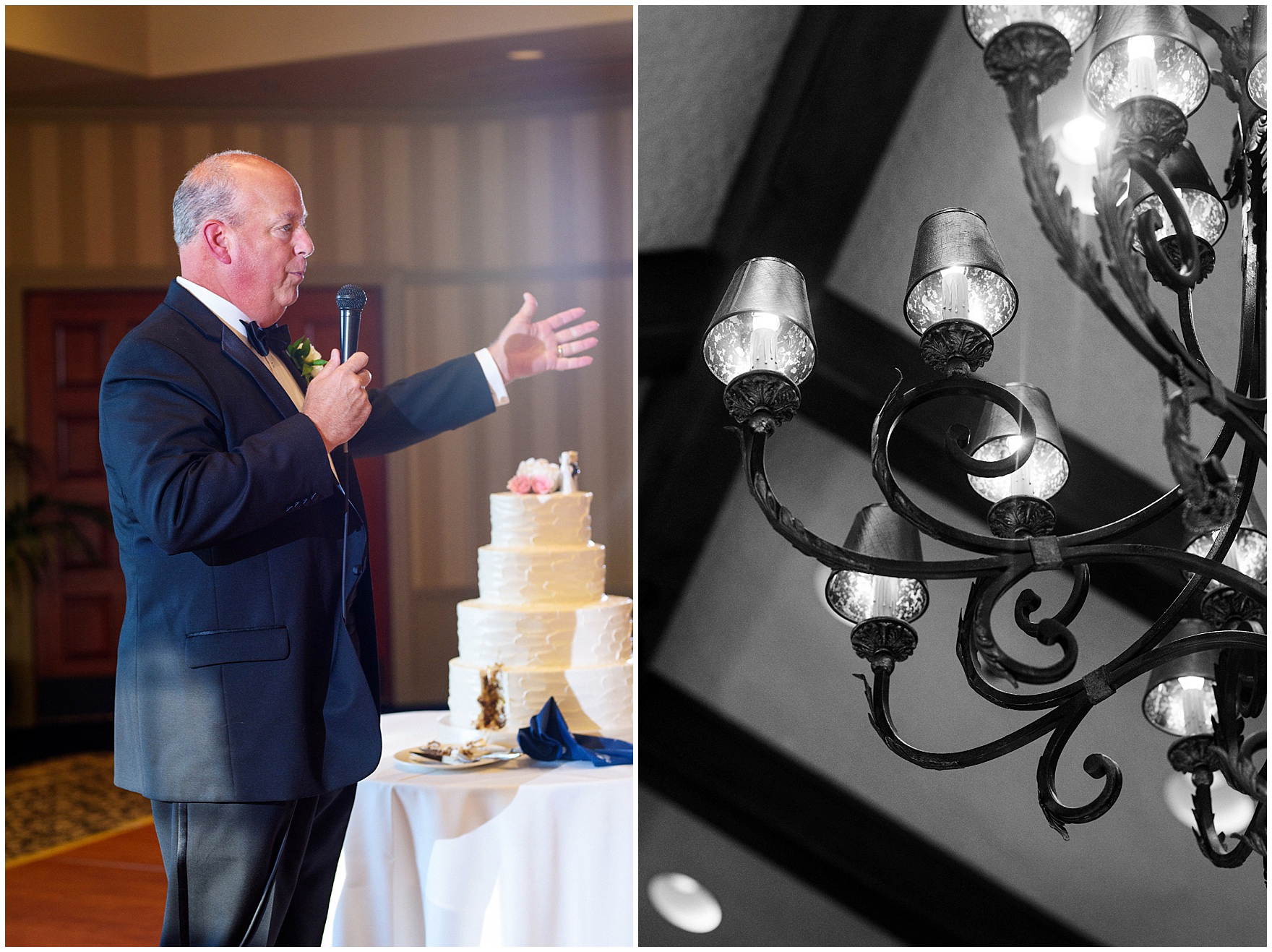 The father of the bride makes a speech during a Biltmore Country Club Barrington wedding.