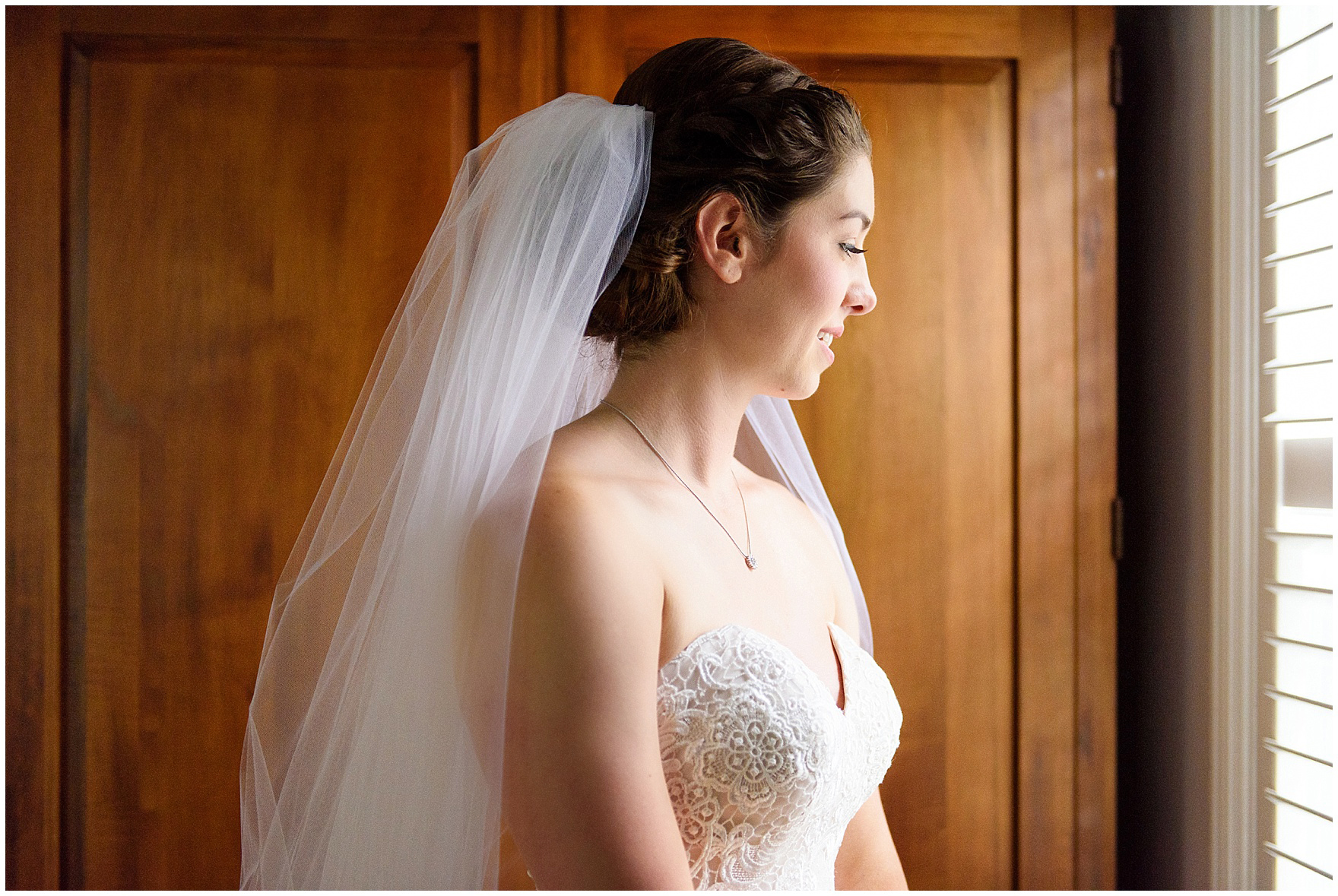 A bride gets ready for her St. Francis Xavier and Brookfield Zoo Chicago wedding.