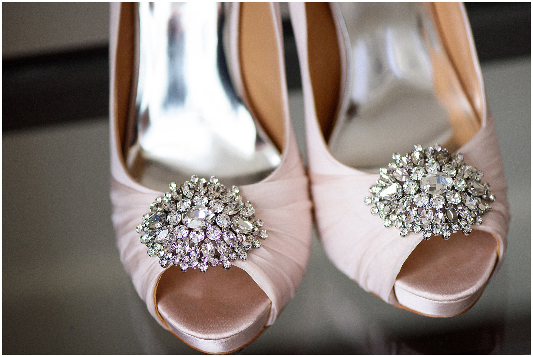 Sparkly wedding shoes for a Hotel Arista Naperville wedding.