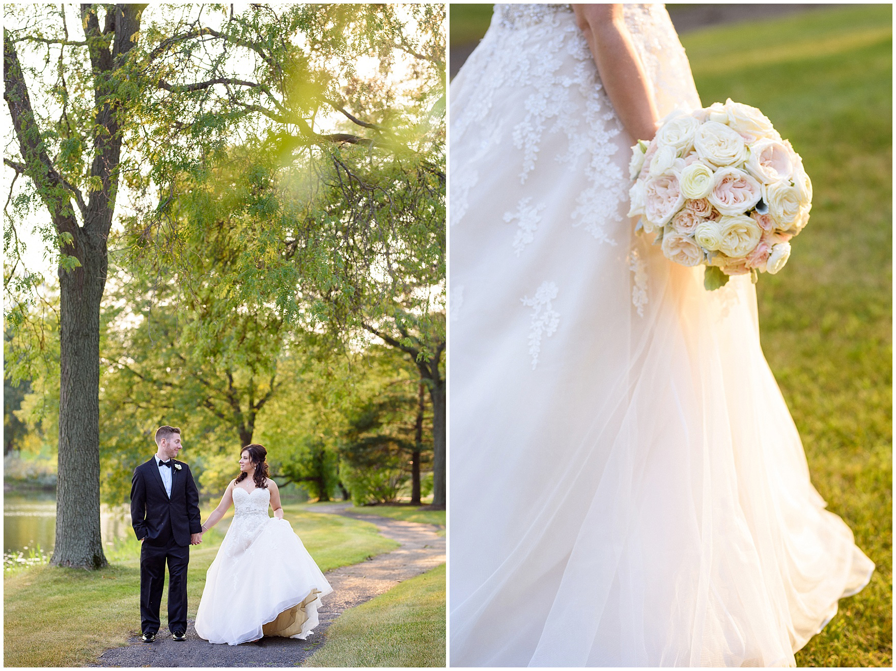 Bride and groom portraits during a Hotel Arista Naperville wedding.