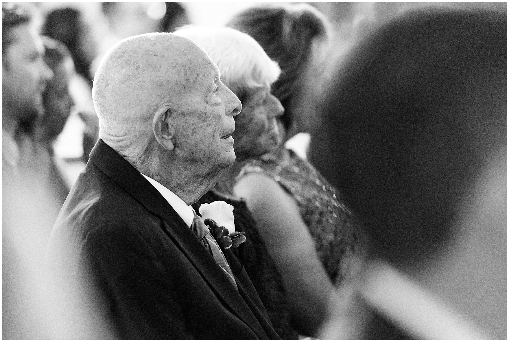 Grandparents watch the ceremony during a Glen Club Glenview Illinois wedding.