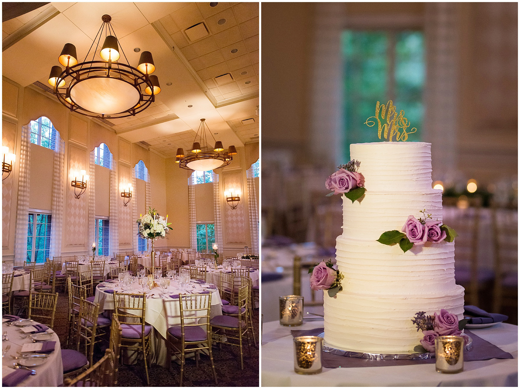Details of the reception dinner decor for a Glen Club Glenview Illinois wedding.
