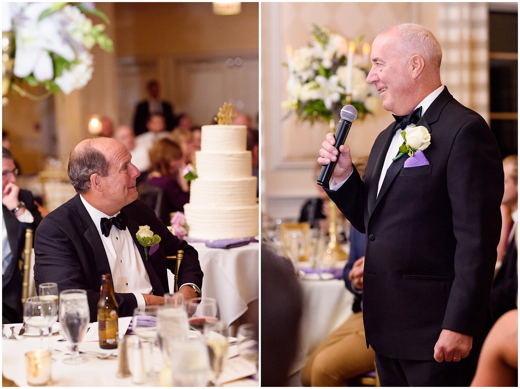 The father of the bride speaks at a Glen Club Glenview Illinois wedding.