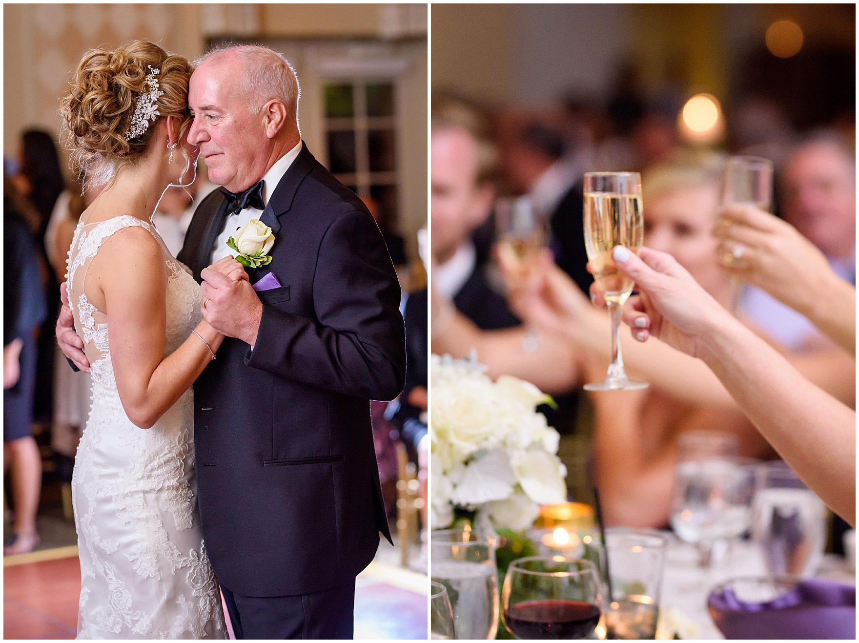 The bride dances with her father during a Glen Club Glenview Illinois wedding.