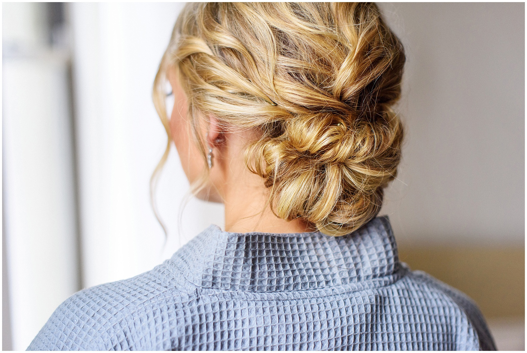 Details of a bride's updo photographed at the Ambassador Hotel before a St. Clement Germania Place Chicago wedding.