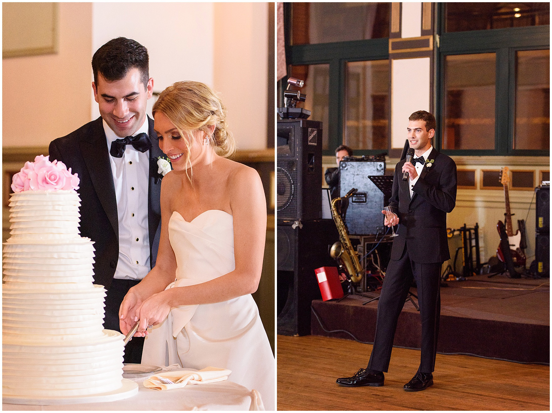 The best man gives a toast during a St. Clement Germania Place Chicago wedding.
