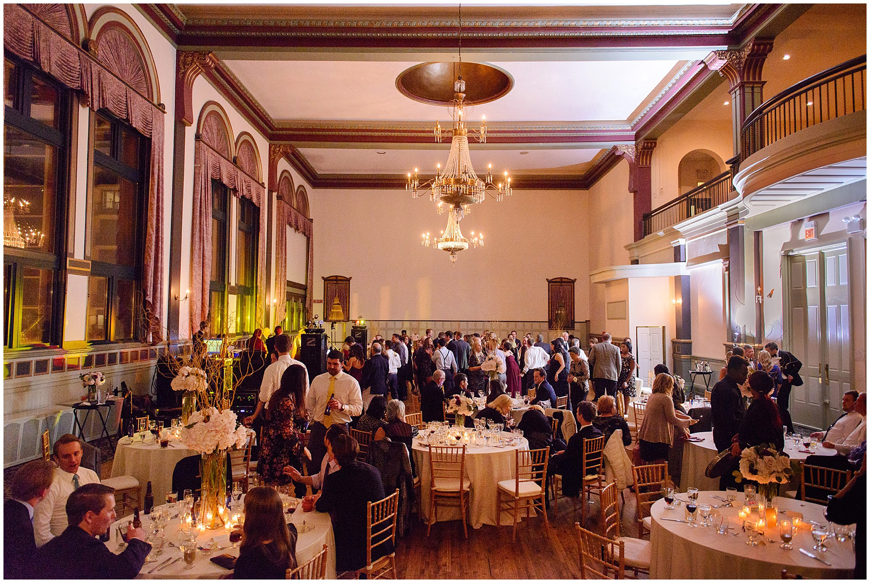 Guests dance and mingle during a St. Clement Germania Place Chicago wedding.
