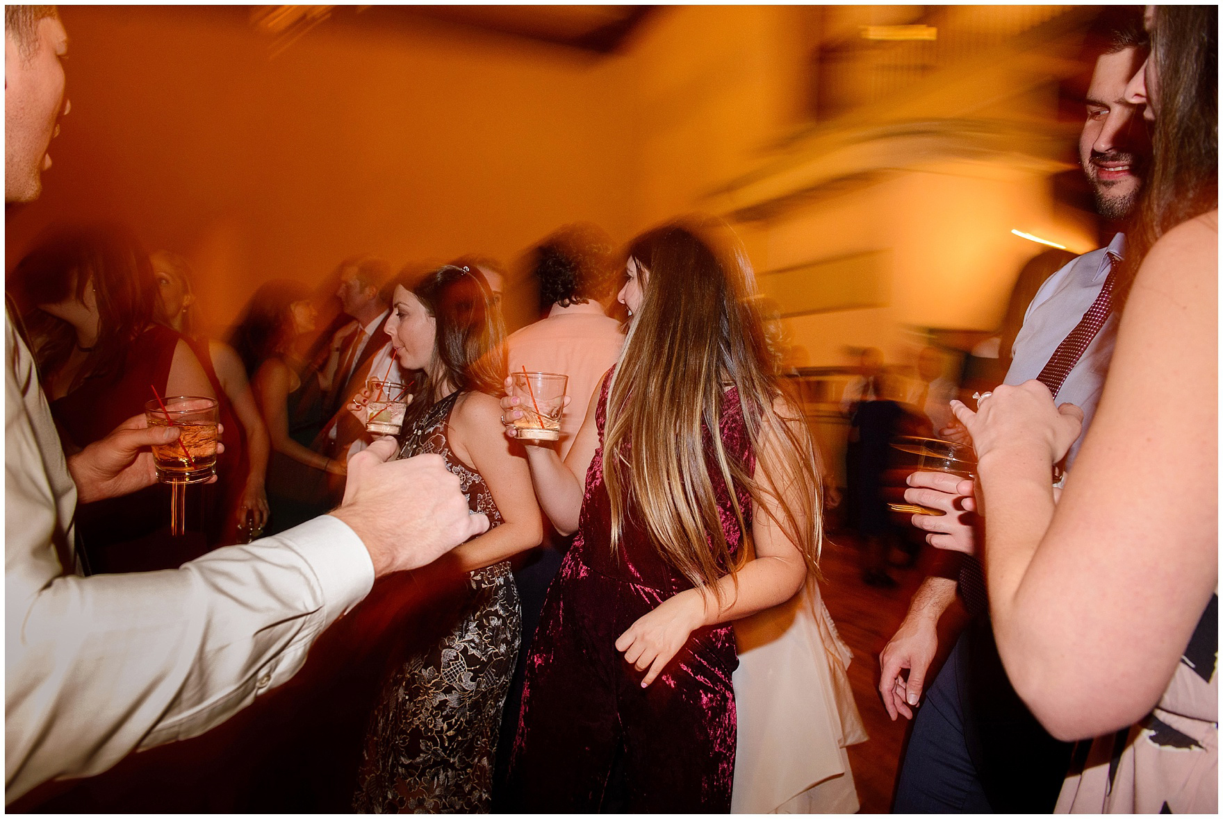 Guests hit the dance floor during a St. Clement Germania Place Chicago wedding.
