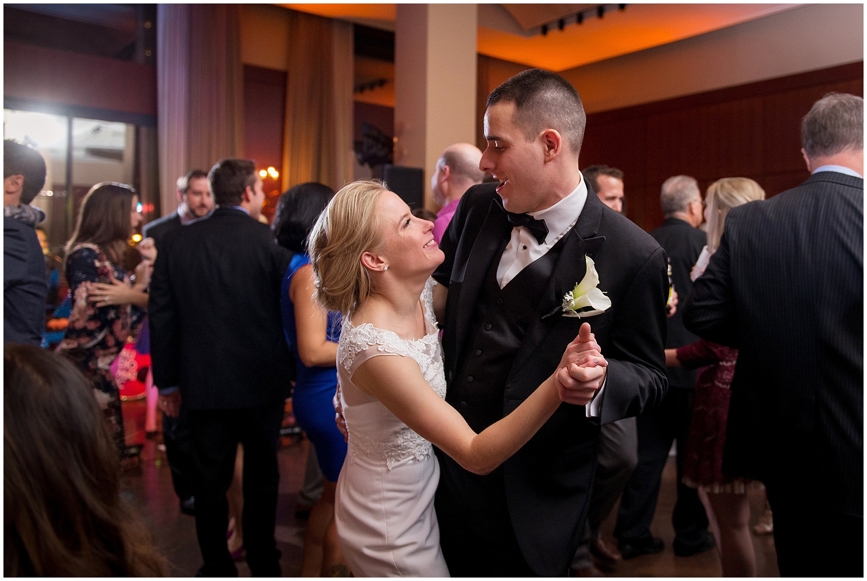 Guests dance during a Newberry Library Chicago wedding reception.