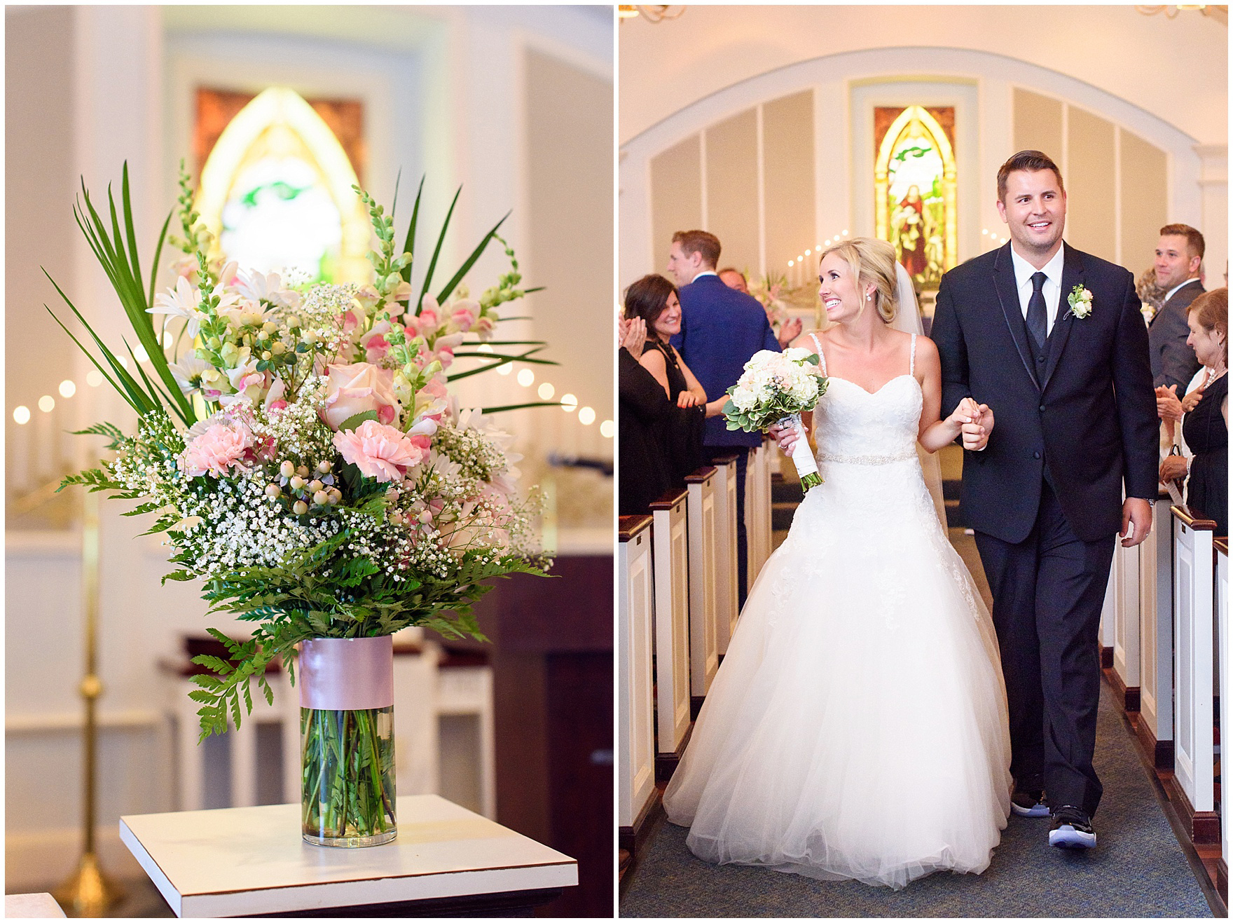 Itasca During Their The Bride And Groom Are All Smiles After Ceremony At First Presbyterian Church Of
