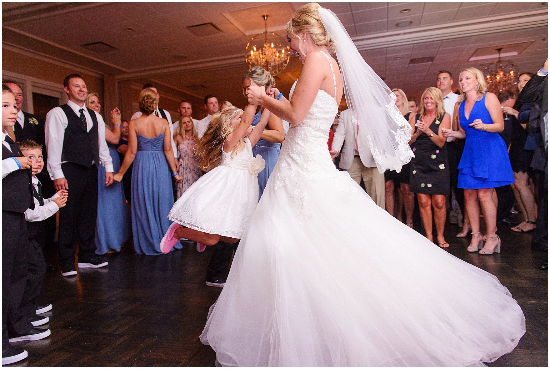 The Bride Twirls With Flower At An Itasca Country Club Illinois Wedding